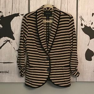 Karen Kane Striped 3/4 Blazer